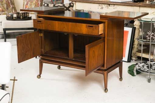 Mid Century Custom Flip Top Bar Cabinet   Montage