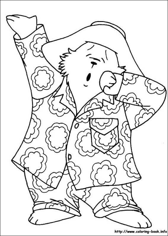 paddington bear coloring pages # 8