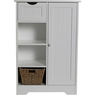 Buy Shaker Slimline Hall Storage Unit with Cupboard White at