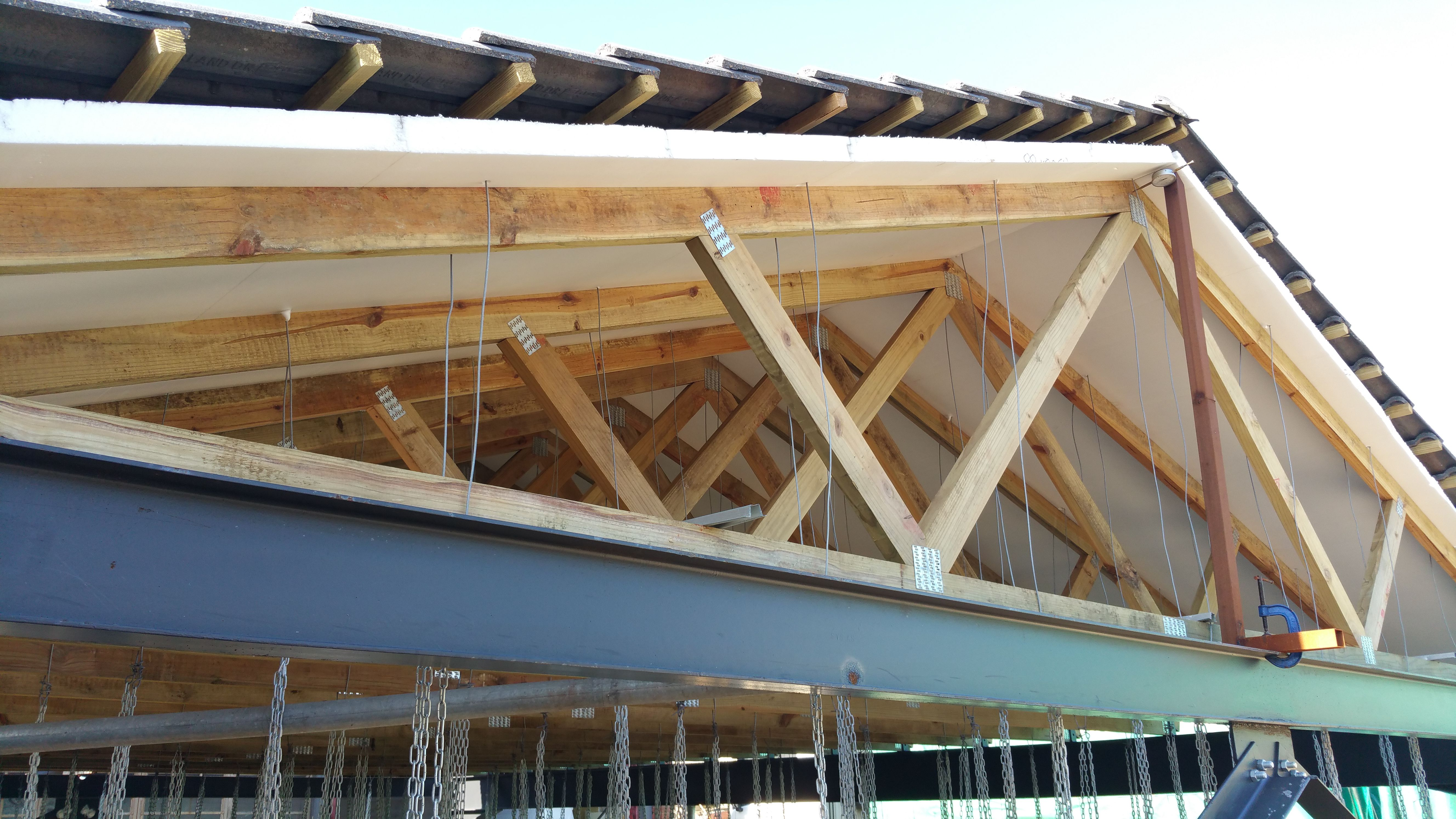 Over Truss Under Roof Sheet Insulation In 2020 Roofing Sheets Roof Insulation Sheets