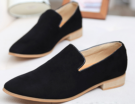 Black Slip On Loafer Mens Fashion Suede Dress Shoes