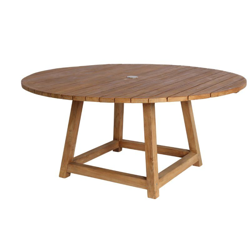 Sika Design George Solid Wood Dining Table Perigold Round Outdoor Dining Table Outdoor Wood Table Teak Dining Table