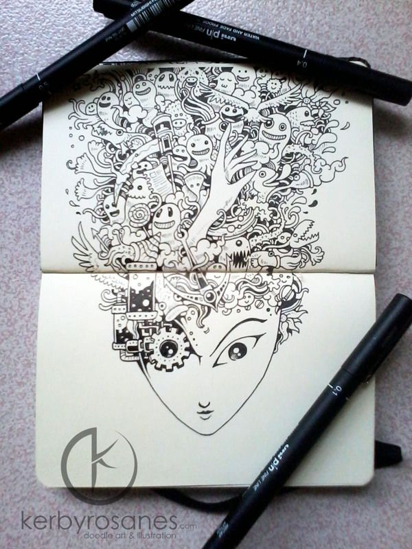 Moleskine Notebook Art by Kerby Rosanes | purple leaves | Amazing ...