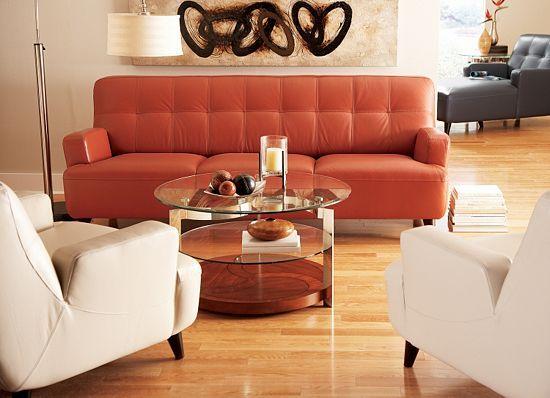 Contempo Sofa, Terra Cotta   Http://www.havertys.com/