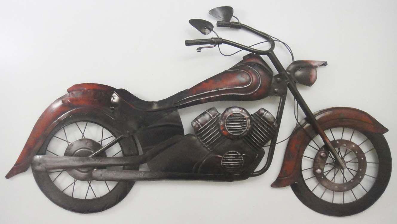 metal wall art classic motorbike motorcycle wall art on metal wall art id=43136