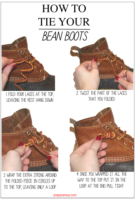 0ea5d23782a How to tie your Bean Boots | LL Bean Boot Obsession | Bean boots ...