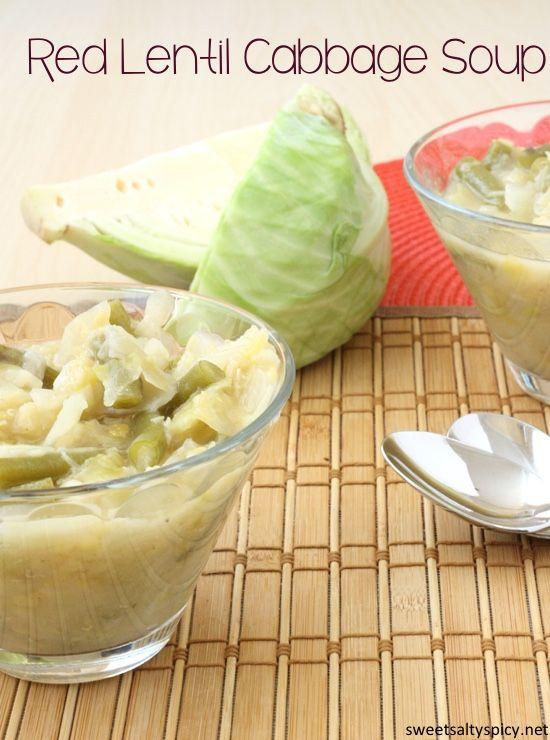Red Lentil Cabbage Soup