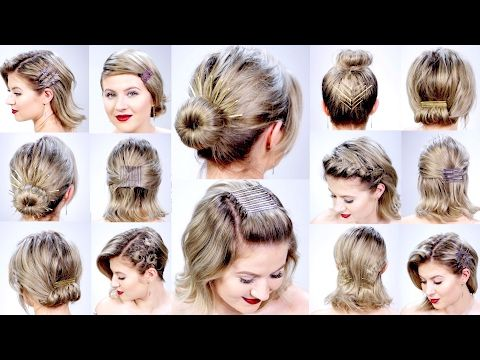 Knowing How To Style Short Hair Can Be Frustrating At Times But These Ideas And Tricks Will Ease The Short Hair Styles Easy Easy Hairstyles Medium Hair Styles