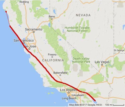 Bildergebnis für san andreas fault map