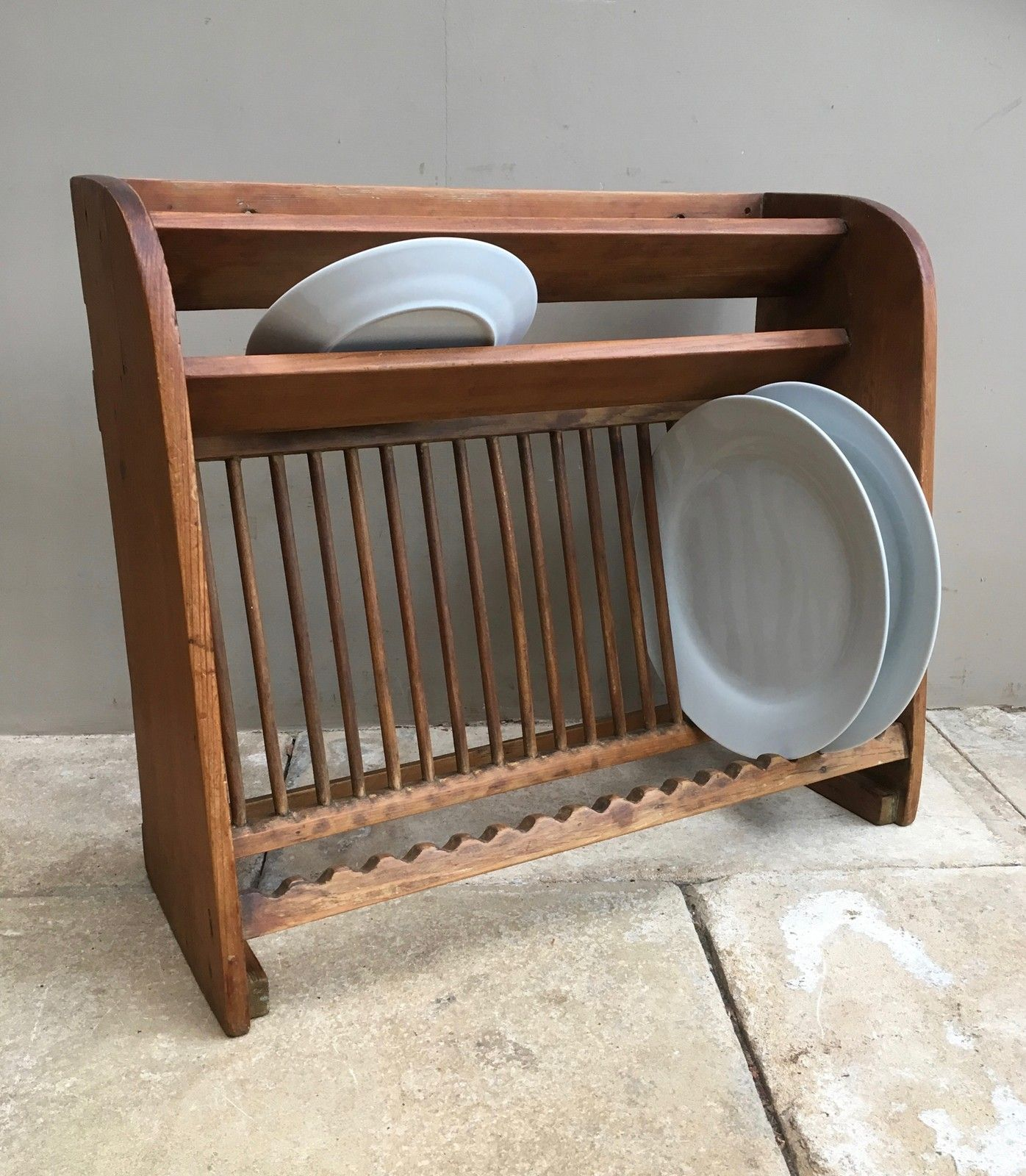 Late Victorian Stripped Pine Plate Rack-the-antique -kitchen-IMG_4480_main_636241621700542421.jpg & Late Victorian Stripped Pine Plate Rack-the-antique-kitchen ...