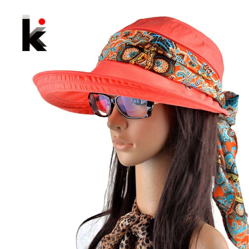 e64707fa8d4 Free shipping 2017 summer hats for women chapeu feminino new fashion visors  cap sun collapsible anti-uv hat 6 colors
