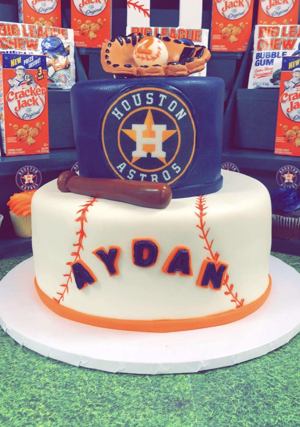 Houston astros cake baseball birthday cakes houston
