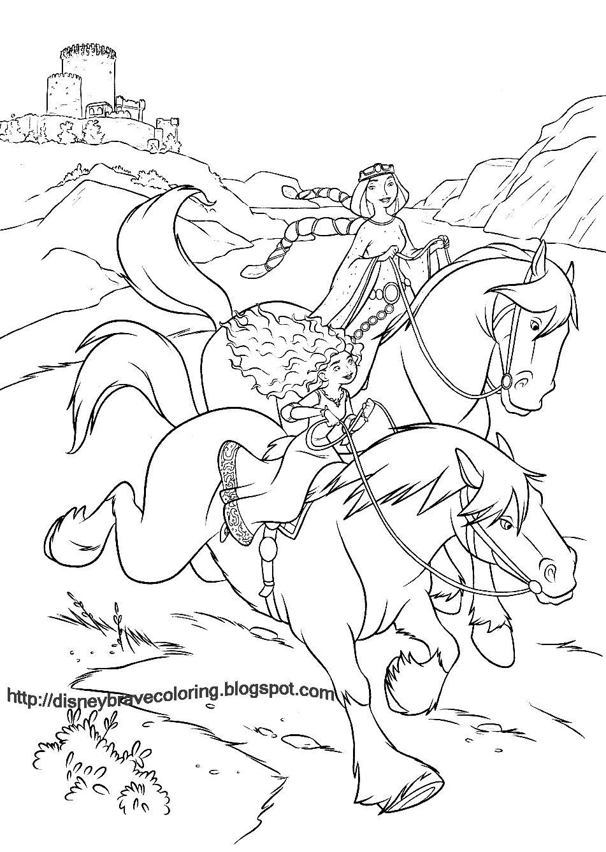 Disney pixar brave merida coloring page morg coloring book art