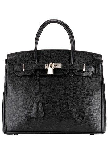 Kate Leather Top Handle Bag Black