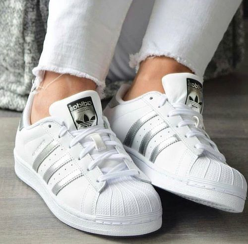 Fashion · adidas silver stripes- Stylish Adidas superstar designs ...