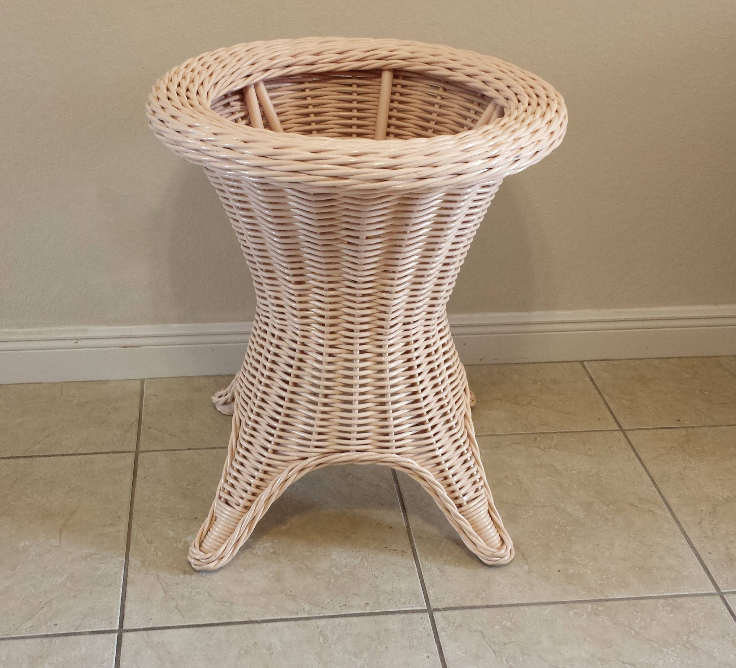 Thick Wicker Round Table Base By DEGFURNITUREDESIGNS On Etsy
