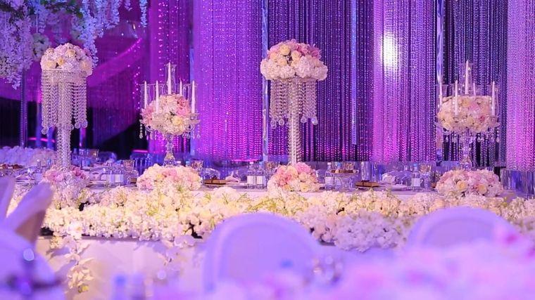 decoración de boda con cristales