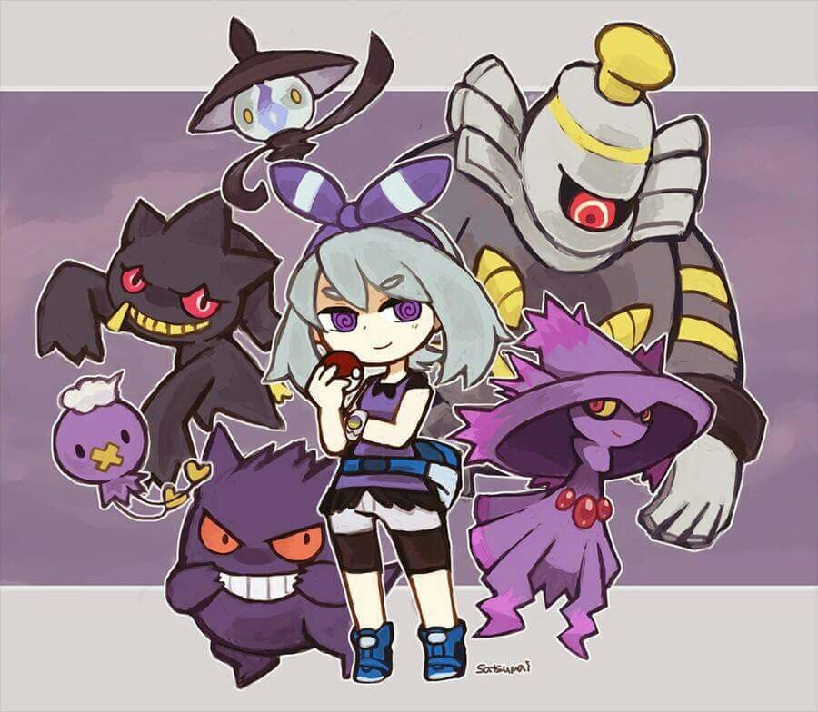 May and the Ghost Types ^_^ I give good credit to whoever made this  #Halloween
