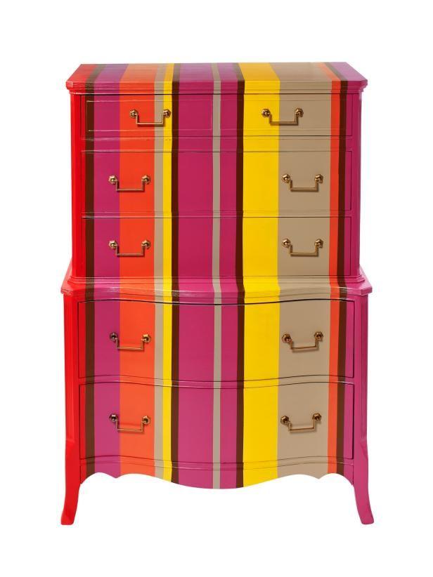 Cassettiera Trip Trumeau By Seletti.How To Stripe A Dresser Striped Dresser Dresser Decoupage Dresser
