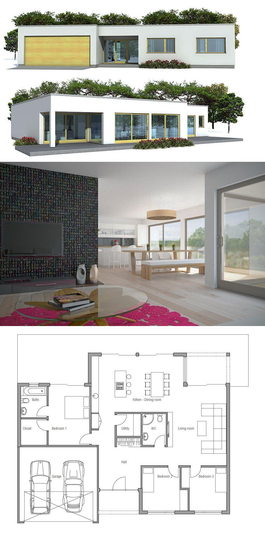 Home Decor House Plans Small House Plans Minimalist Architecture