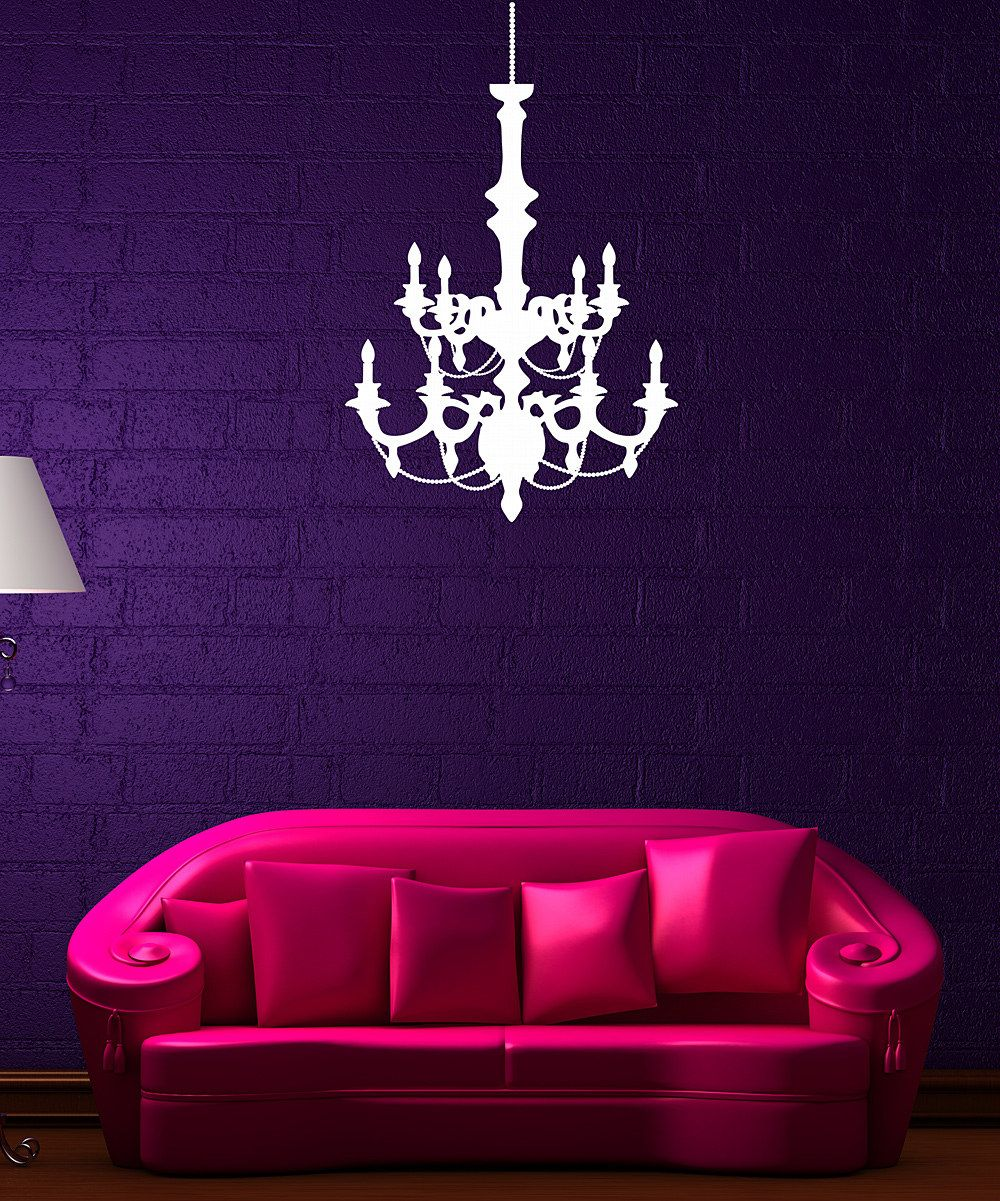 White chandelier wall decal decorating ideas pinterest wall white chandelier wall decal arubaitofo Gallery