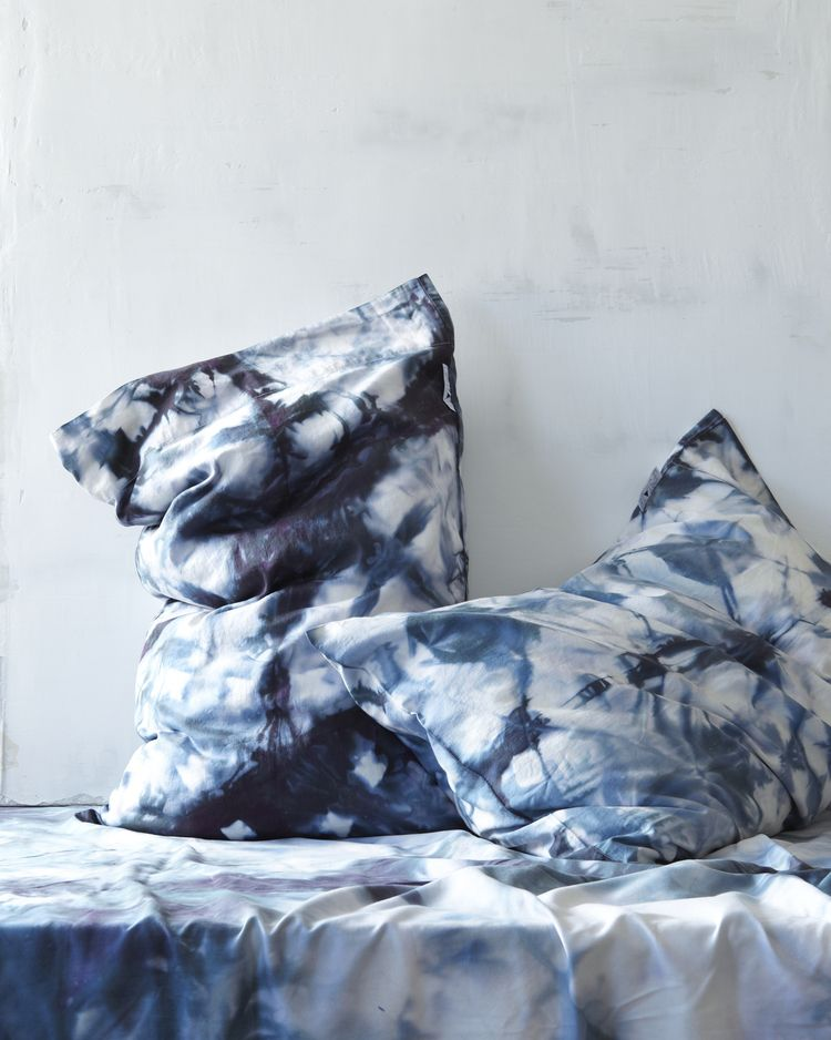 Upstate Textiles Via Hungry Ghost Tie Dyed Pillows