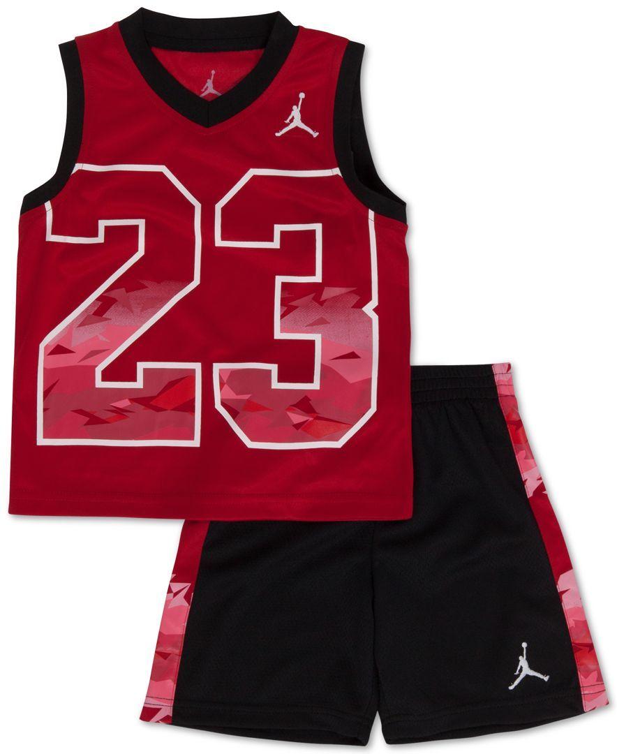 91d63999476 Jordan Baby Boys' 2-Piece Fractal Tank Top & Shorts Set   Baby boy ...