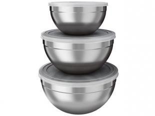Conjunto de Bowl Inox 3 Peças - Euro Home IN5064