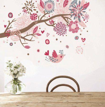 Blumen Ozean Wandtattoo Kinderzimmer Schlafzimmer Wohnzimmer AY909: Amazon.de:  Küche U0026 Haushalt