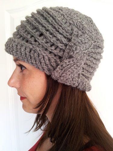 a1da9194193fb Gorros tejidos a crochet para mujer con esquema (9)