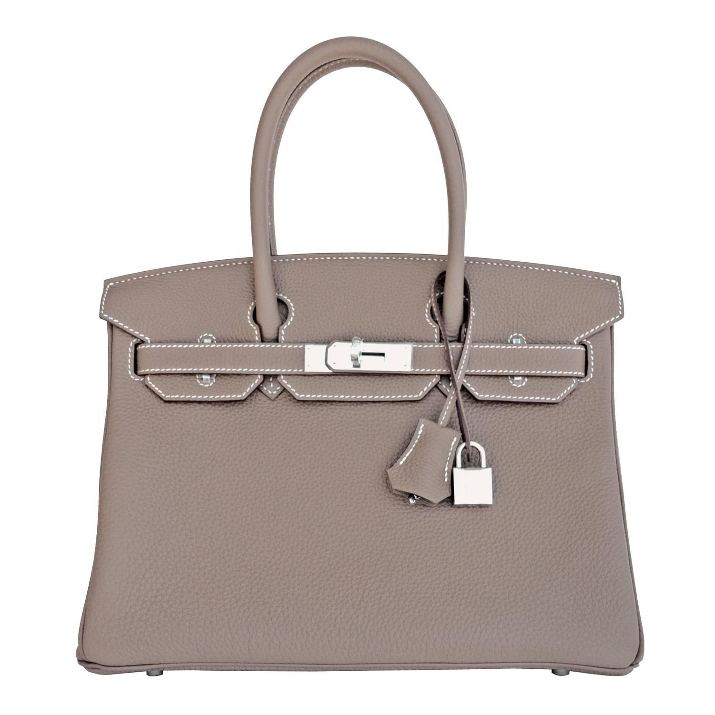 428ce628c58 Hermes Birkin Bag 40cm Etoupe Togo Palladium Hardware