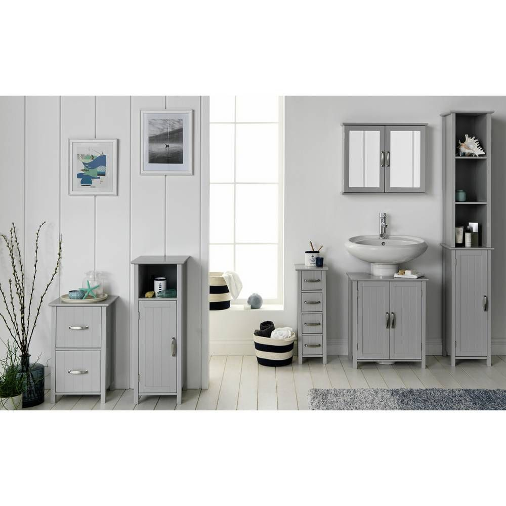 Sensational Home New Tongue And Groove Tall Cabinet Grey Bathroom In Interior Design Ideas Apansoteloinfo