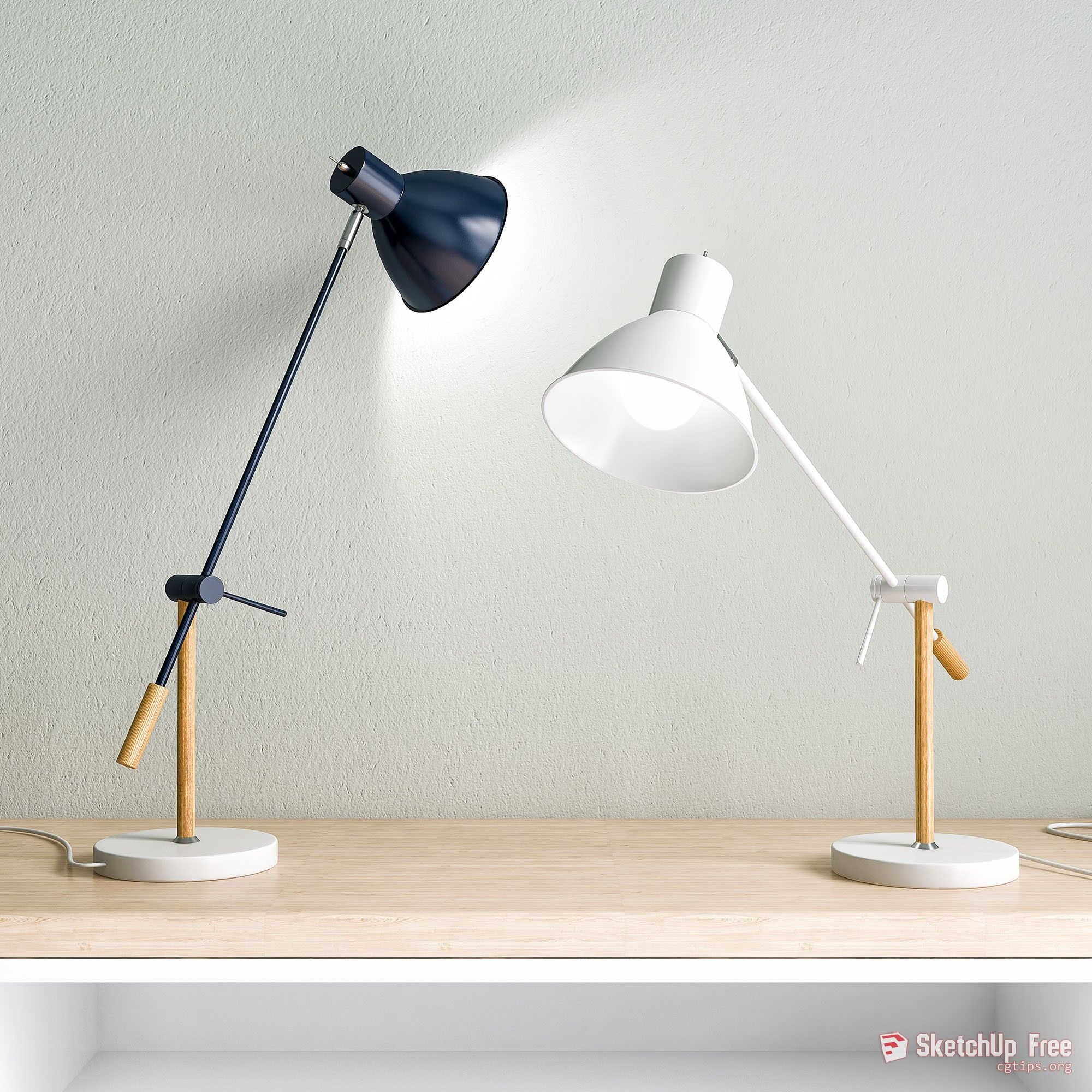 1563 Victor Table Lamp Sketchup Model Free Download