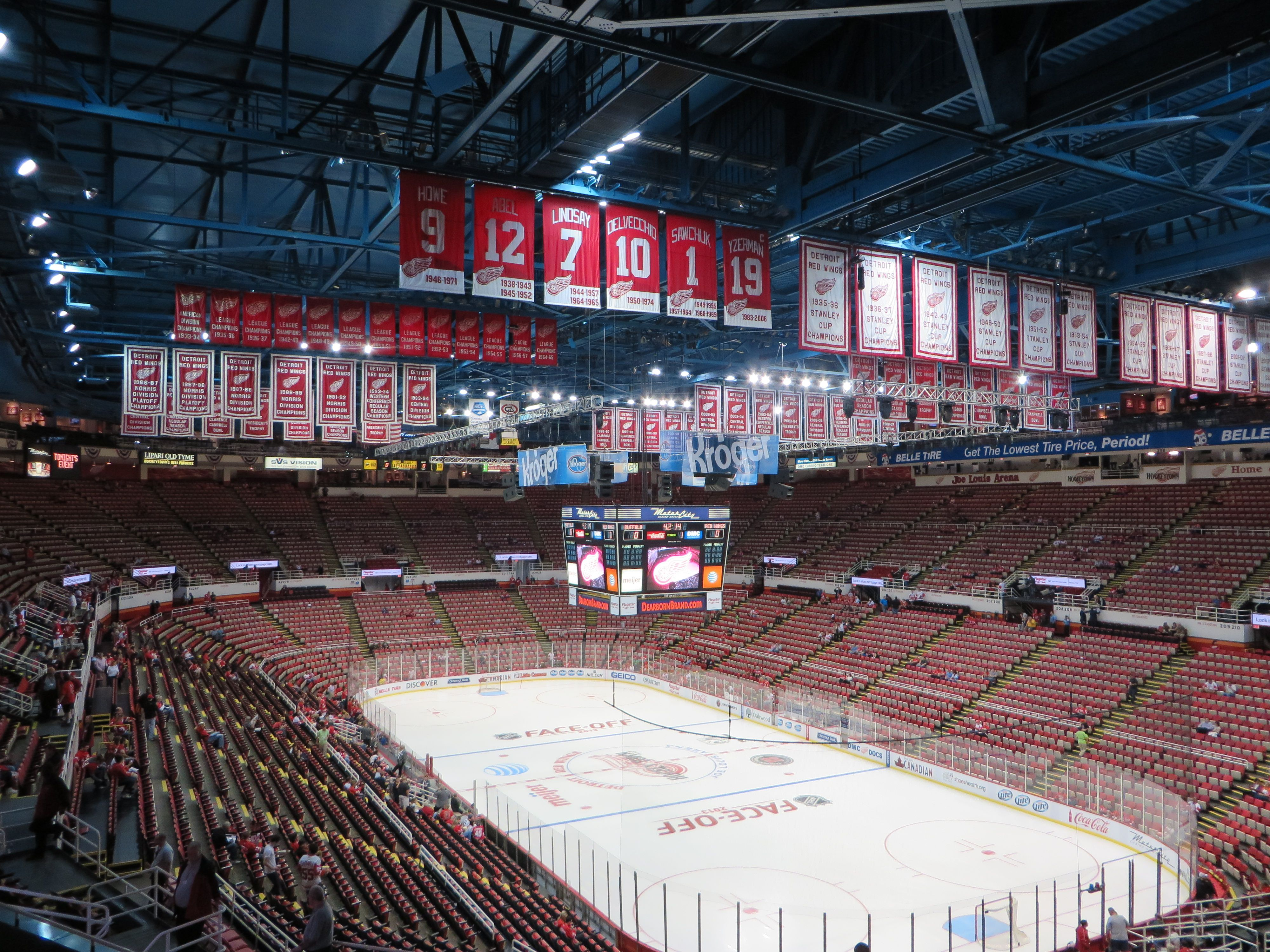 Joe Louis Arena A Hockey Fans First Impression Detroit Red Wings Joe Louis Arena Detroit Hockey
