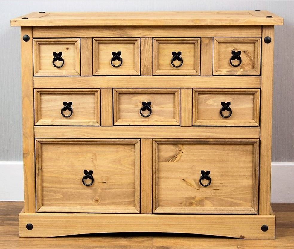 Landhaus Schlafzimmer Kommode Vintage Holz Sideboard