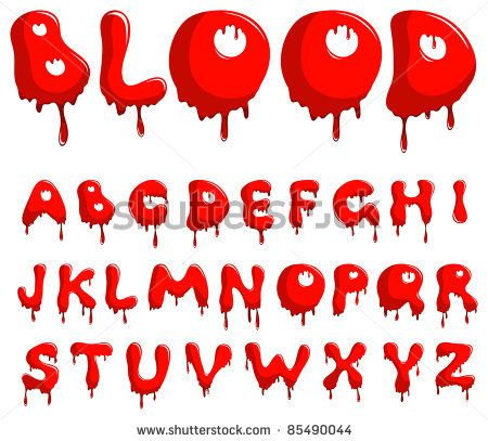 how to draw scary letters