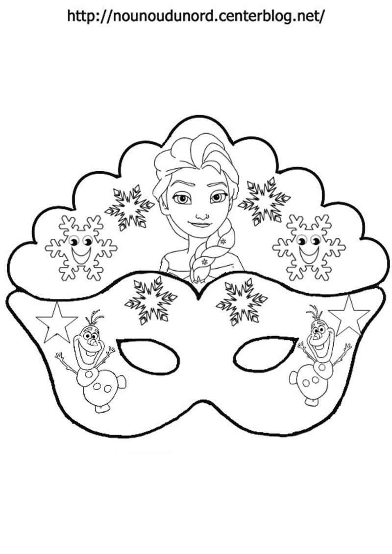 Top masque-reine-des-neiges-pour-colorier-.jpg | Epiphanie | Pinterest  OT77