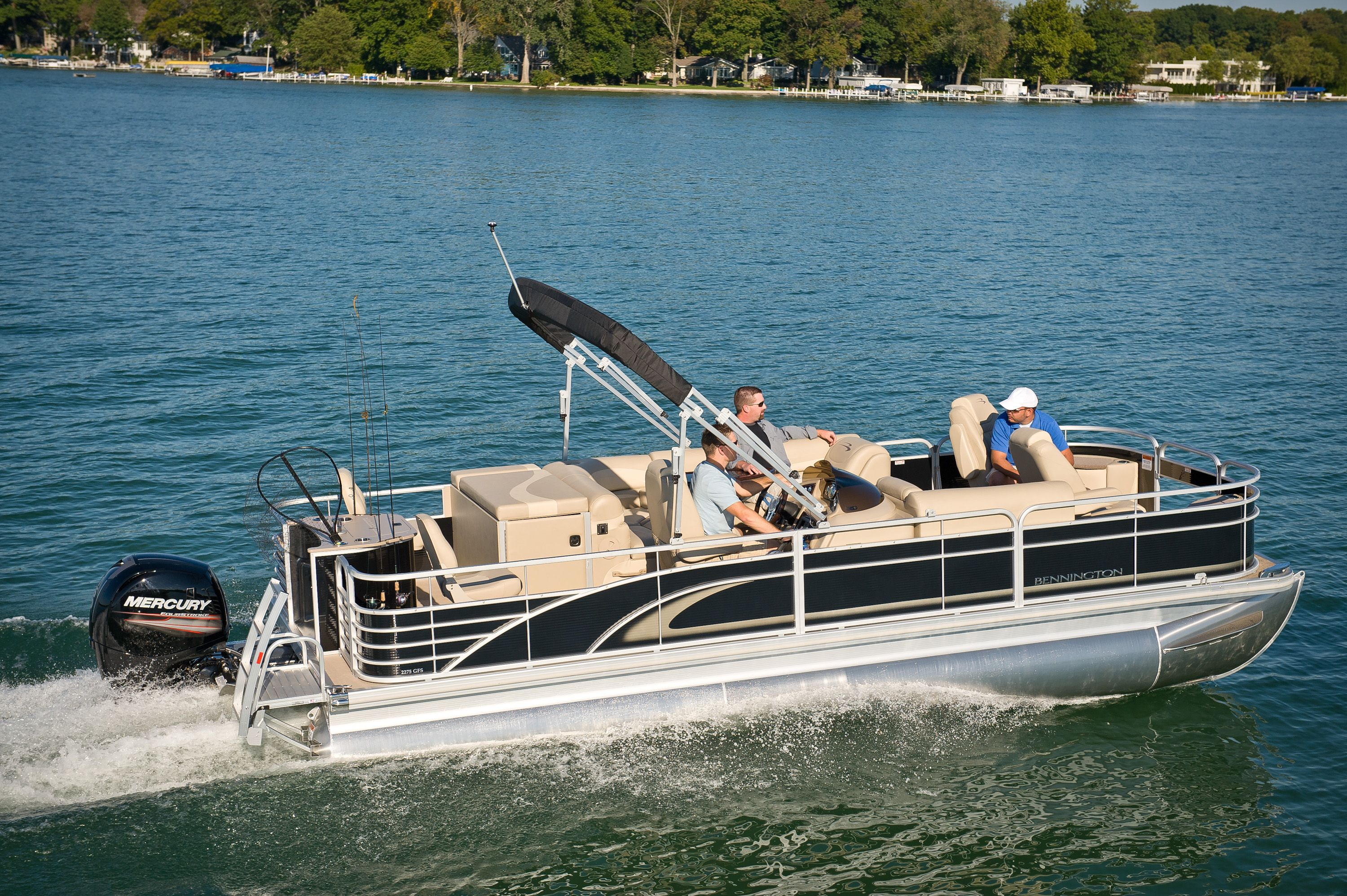 2013 bennington pontoon boat 2275 gfs great for a day for Fishing pontoon boats