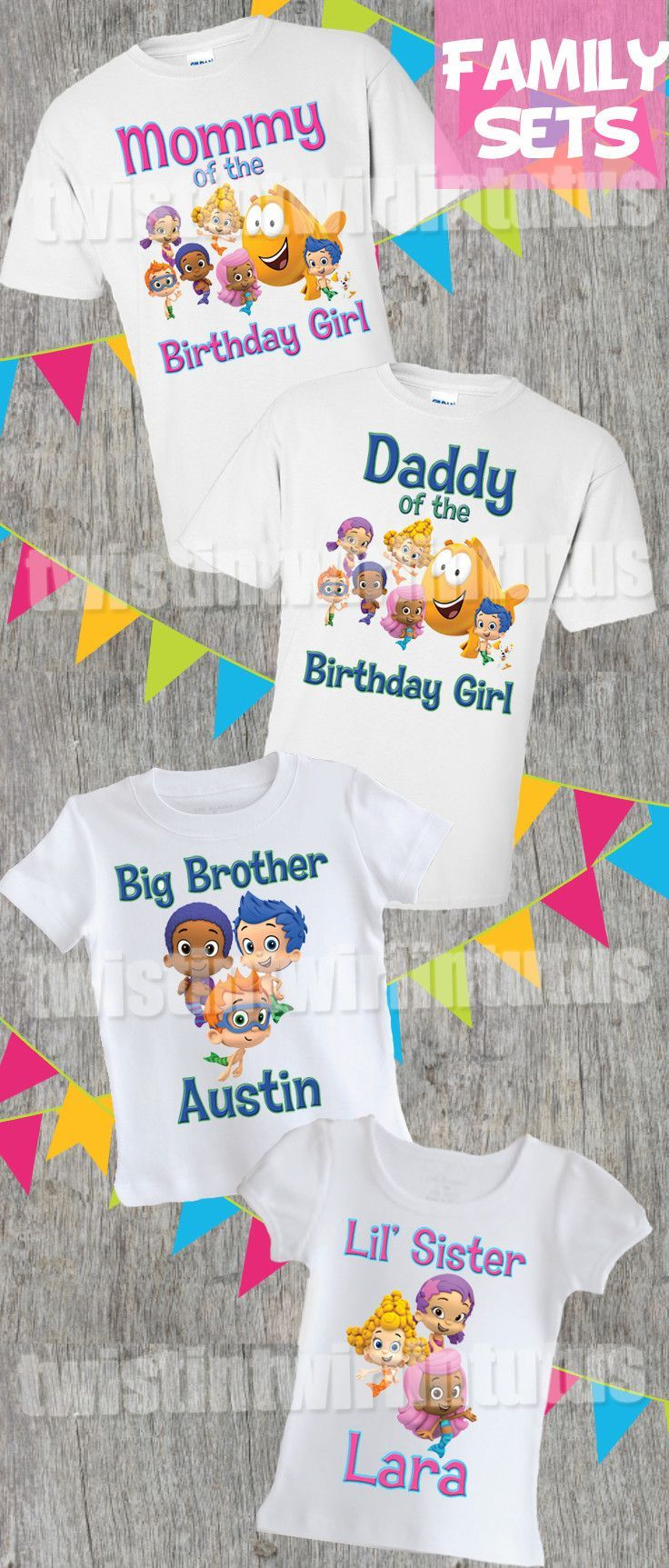 Bubble Guppies Family Birthday Shirts in 2018 | Adult Shirts ...
