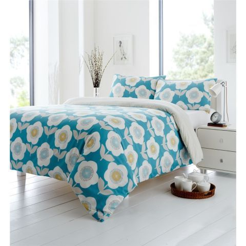 Buy Fusion Ellon Teal Quilt Cover Set - Double from our Double Duvet Covers range - Tesco