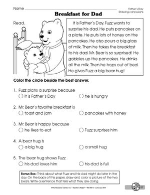 drawing conclusions worksheets | Results for drawing conclusions ...