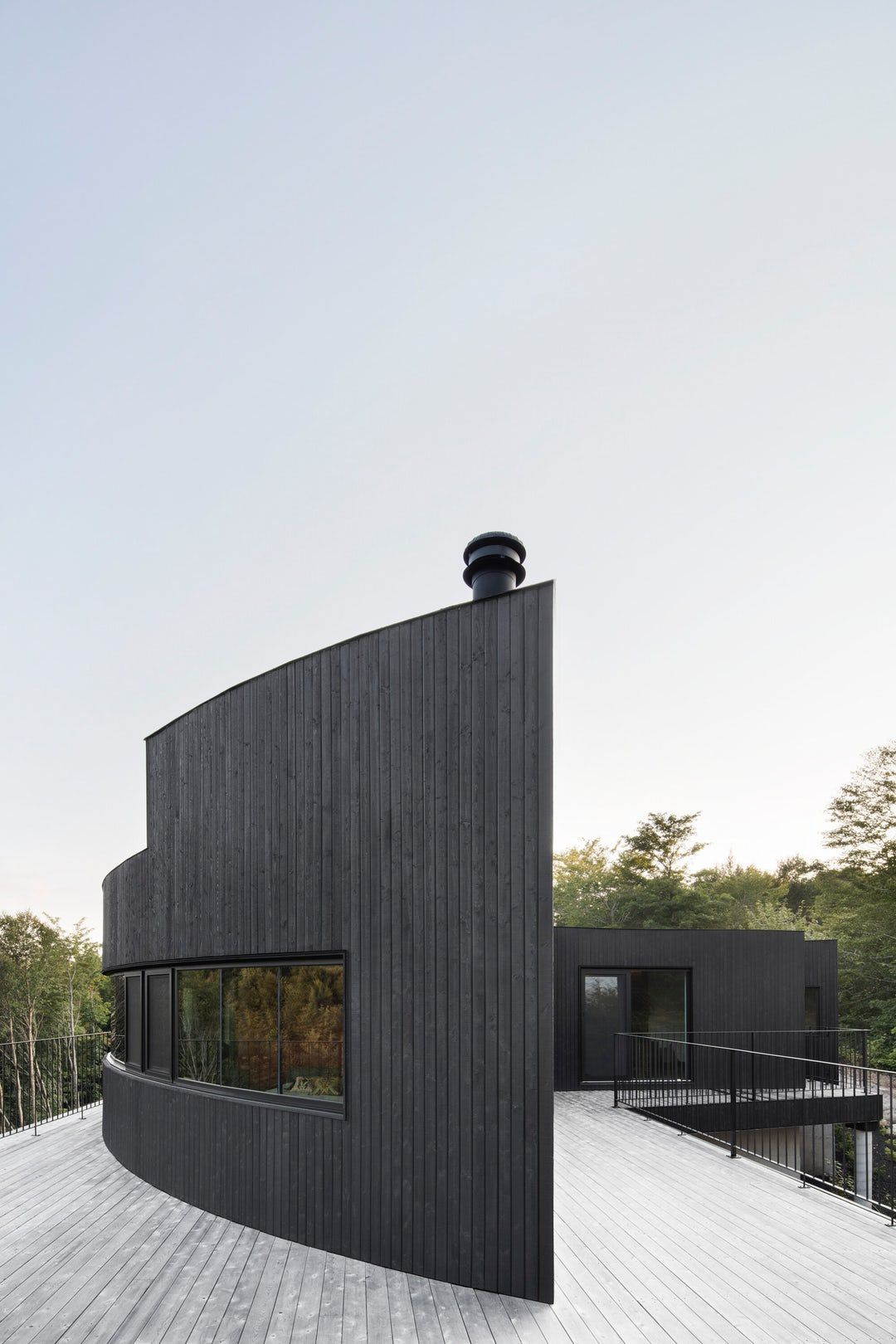The elemental beauty of charred wood makes it a preferred material ...
