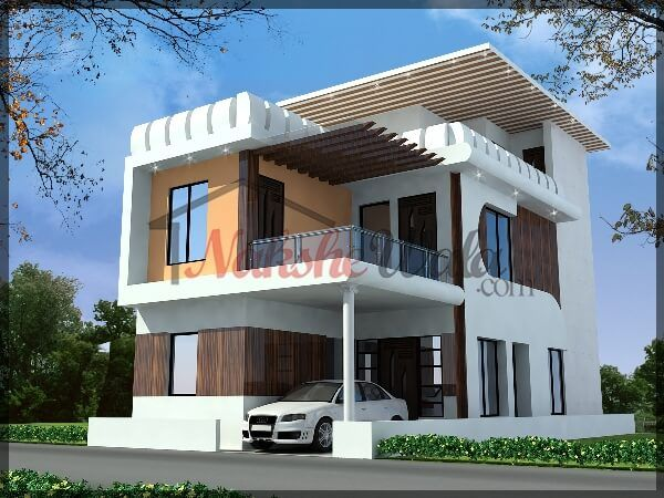 35x70 Soan Garden House 3D Elevation 3D View, 3D Elevation, 3D Home  Elevation, 3d House Elevation, 3D Plaza View, Corner Plot Elevation, Corner  Hu2026