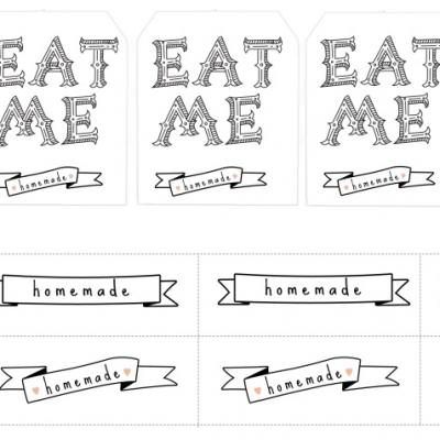 Homemade goodies labels free printable gift tagscute vintage homemade goodies labels free printable gift tags cute vintage looking printable tags for baked goods and treats you give away as gifts to neighbors and negle Gallery
