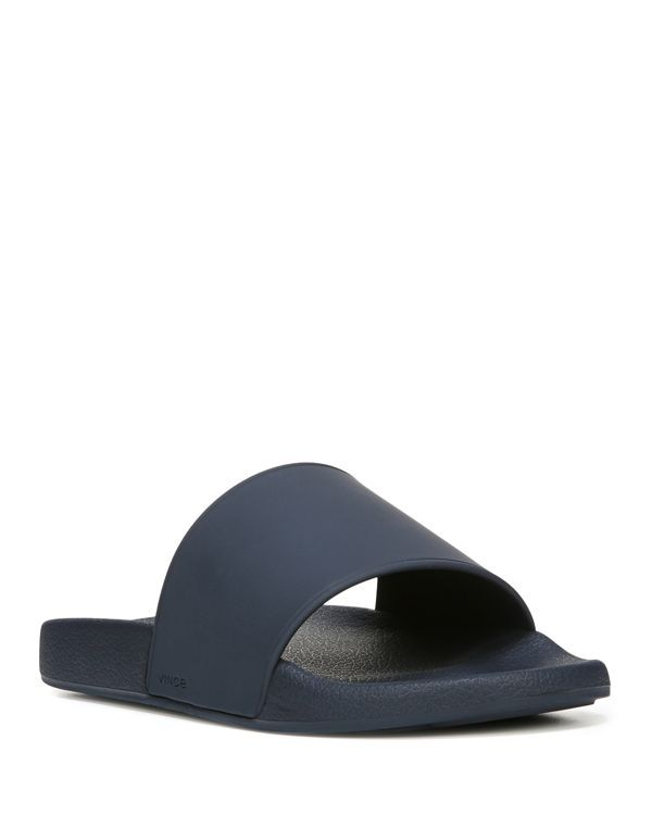 f894441687 Vince Men's West Coast Pool Slide Sandals   Rubber upper, synthetic lining,  synthetic sole