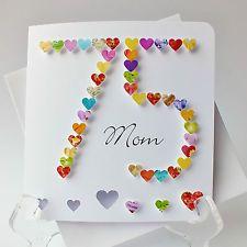 Handmade 3D 75th Birthday Card Personalised Age 75 Mum Dad Name