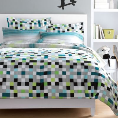 Wholehome Md Pixel Collection Microfibre Comforter Set Sears Sears Canada With Images Comforter Sets