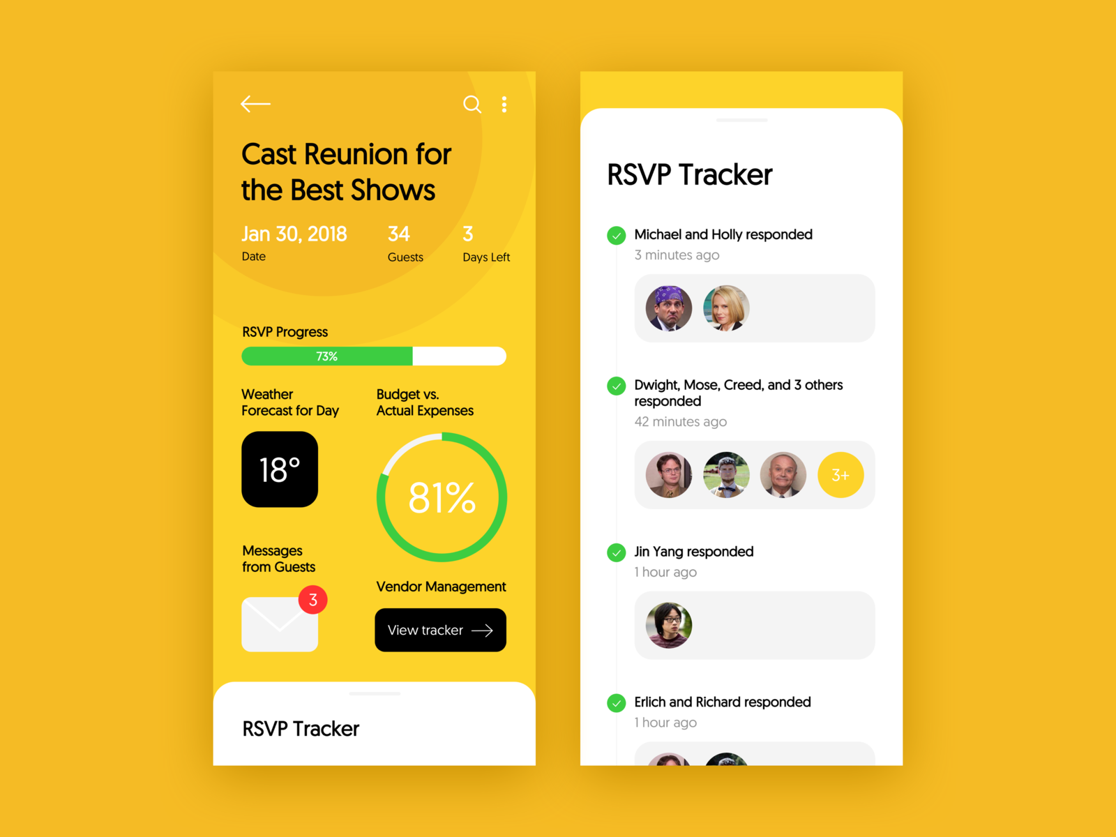 Evently Event Task Manager App on Behance