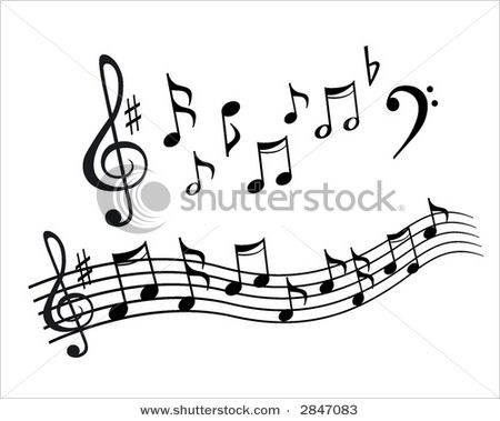 Music Staff Images Picture Of Music Notes And Music Notes Arranged On A Staff In A Pictures Of Music Notes Design Element Clip Art