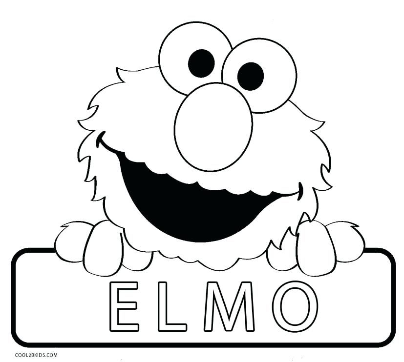 Free Elmo Coloring Pages